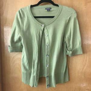 Women's Eddie Bauer Green Cardigan Sweater Size S